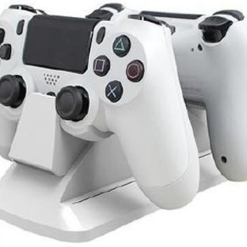 Dual Controller Charging Station White (Calibur11)