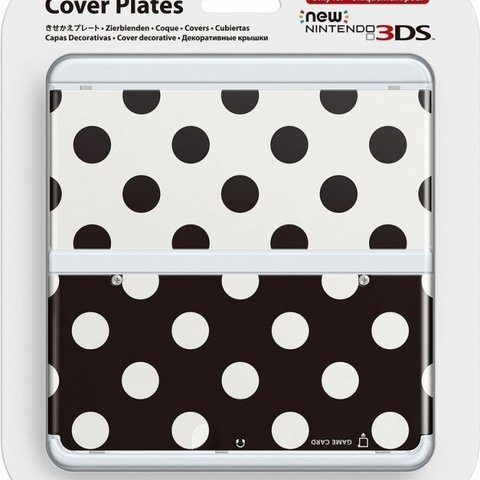 Cover Plate NEW Nintendo 3DS - Polka Dots