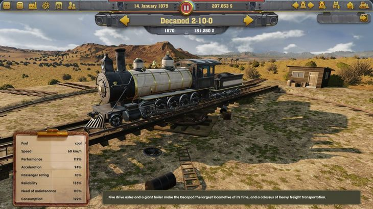 Train tycoon sim Railway Empire on track for January arrival
