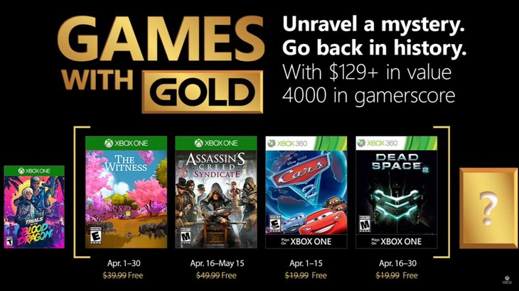 April's Xbox Games with Gold Offer Up Assassin's Creed Syndicate, The Witness